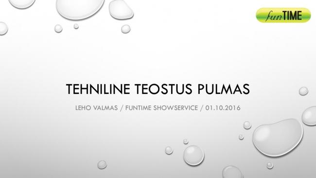 Tehniline teostus pulmas, Leho Valmas, Funtime Showservice