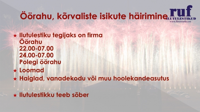 Ilutulestik pulmas, Rinald Kodasma, RUF Ilutulestikud