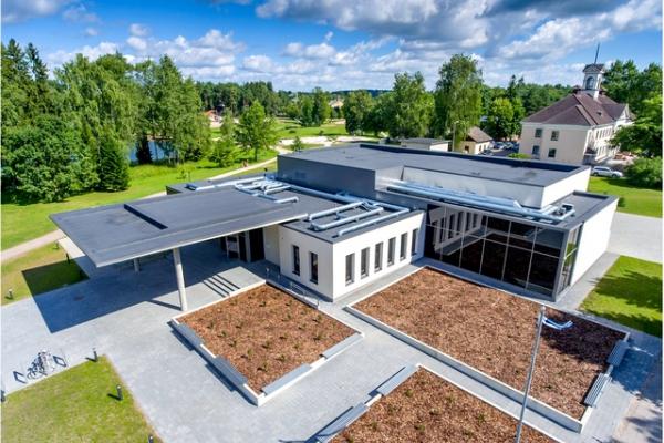 Elva Kultuurikeskuse aerofotovaade