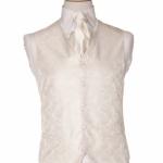 Gowri Cream Paisley waistcoat
