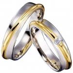 Valikus on nii kollasest kui valgest kullast sõrmused